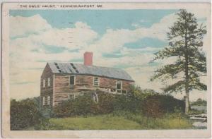 KENNEBUNKPORT Maine - THE OWLS HAUNT 1920s era / Primitive