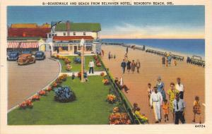 F4/ Rehoboth Beach Delaware Postcard Linen Boardwalk Beach Belhaven Hotel 2