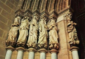 Portugal Evora The Cathedrale Apostles of the Portico Postcard