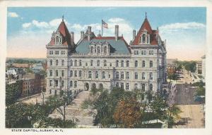 State Capitol, Albany, New York, Early Postcard, Unused