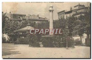 Old Postcard Antibes AM Place Nationale Kiosk