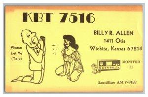 QSL Radio Card From Wichita Kansas KBT 7516