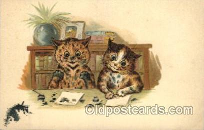 Artist Signed Louis Wain Cat, Cats Postcard Postcards  Artist Wain Louis, Cat...