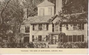 Wayside The Home of Hawthorne Concord MA Massachusetts Unused Postcard D26