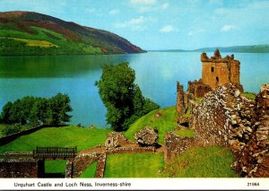 Scotland Inverness-shire Urquhart Castle and Loch Ness