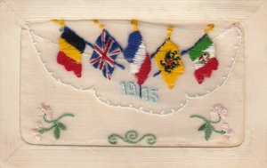 Embroidered 1915 ; Allied Flags
