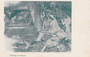 Women fishing in FRANCE , 00-10s