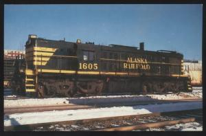 Alaska Railroad EMD MRS-1 Anchorage SNOW SCENE Locomotive Train Postcard