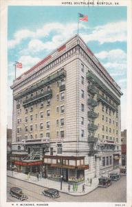 NORFOLK, Virginia; Hotel Southland, Classic Cars, PU-1934
