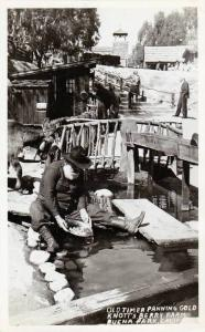 RP, Old Timer Panning Gold, Knott's Berry Farm, Buena Park, California, 1930-...
