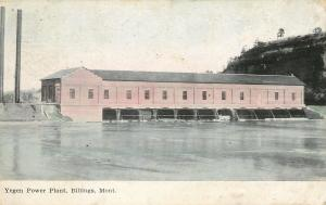Billings Montana~Yegen Power Plant~Long Building~1908 Postcard