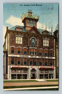 Niagara Falls ON-Ontario Canada, Niagara Falls Museum, Linen Postcard