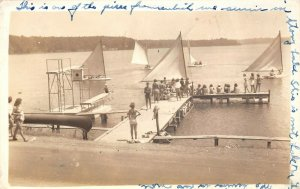 LPM43 Stony Lake Sailboats   Michigan RPPC Postcard