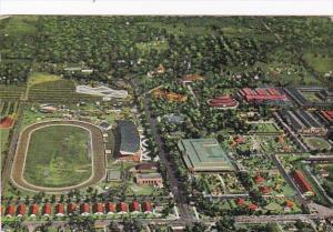 Iowa Des Moines Aerial View Iowa State Fair Grounds 1942