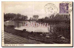 Old Postcard Landscape I Yonne Edges