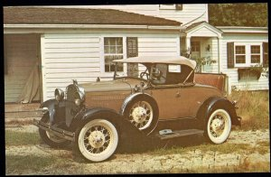 Classic Car Postcard 1931 FORD Model A Deluxe Roadster