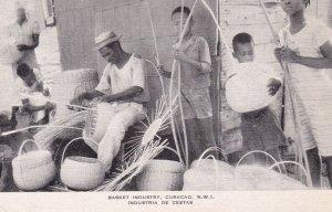 Basket Industry , Curacao , N.W.I. ; Industria de Cestas , 1930s