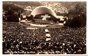 California Hollywood 1938 Easter Sunrise Service The Holywood Bowl Seating 20...