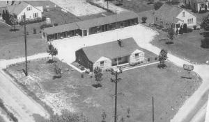 Mansfield Ohio Motel Birdseye View Antique Postcard K76836