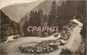 Old Postcard Cauterets The Pont d'Espagne Route
