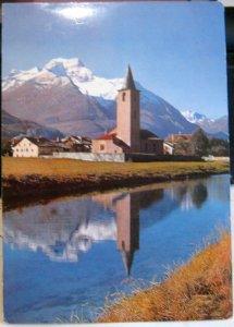 Switzerland Kirche Sils-Baselgia Engadin - posted 1971
