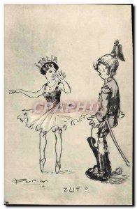 Old Postcard Fantasy Illustrator Italia Soldier