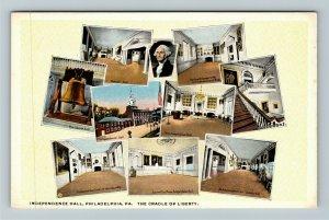 Philadelphia PA-Pennsylvania, Independence Hall Images, Vintage Postcard
