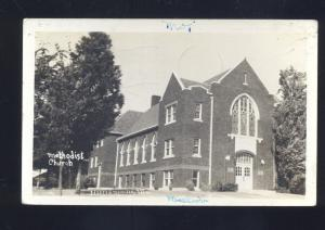 RPPC HARRISONVILLE MISSOURI METHODIST CHURCH VINTAGE REAL PHOTO POSTCARD MO