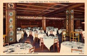 Yellowstone National Park Old Faithful Inn Dining Room Curteich