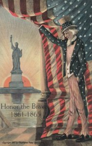 FOURTH of JULY , 1908 ; Uncle Sam & Statue of Liberty