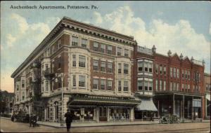 Pottstown PA Auchenbach Apartments c1910 Postcard