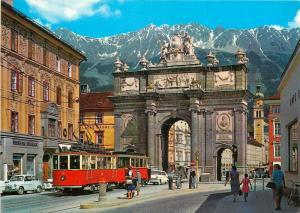 Austria Innsbruck Arch of Triumph tramway
