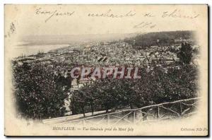 Old Postcard Honfleur Vue Generale du Mont Joly Jack