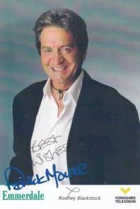 Rodney Blackstock Emmerdale Farm Hand Signed Cast Card Photo