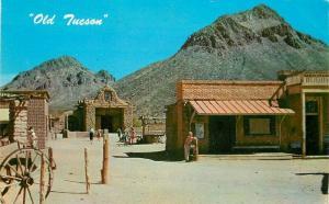 Amusement Cowboy 1960s Movie Postcard Old Tucson Petley 2256 Arizona