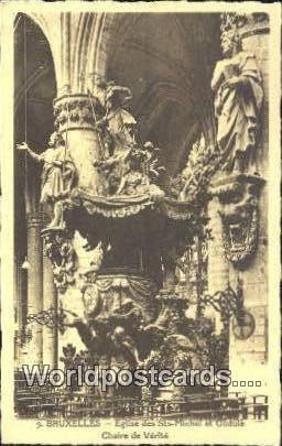 Eglise des Sts Michel et Gudule Chaire de Verite Bruxelles Netherlands Unused