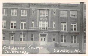 LPSS07 Ozark Missouri Christian County Court House Postcard RPPC