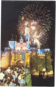 Fantasy in the Sky Fireworks over Disneyland Castle California, CA, Chrome