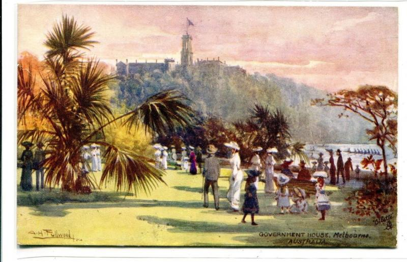 Government House Melbourne Victoria Australia 1910c Tuck postcard