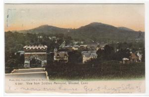 Panorama from Soldiers Memorial Winsted Connecticut 1905 postcard