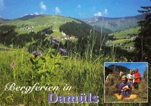 Austria, Bergferien in Damuls, used Postcard
