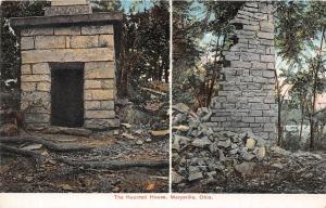 Ohio Postcard c1910 MARYSVILLE 2View HAUNTED HOUSE Union County