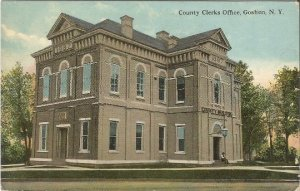 County Clerks Office, Goshen New York Vintage Postcard Historic Building