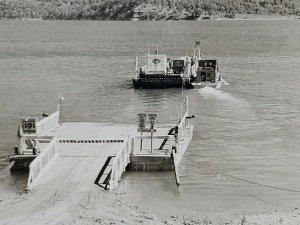 Arkansas Henderson Ferry on Lake Norfork Boat Ship Vintage Postcard unpost 301