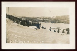 h2169 - VAL MORIN Quebec 1952.Panoramic View. Real Photo Postcard