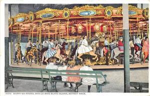Bois Blanc Island MI Merry-Go-Round Carousel Amusement Postcard