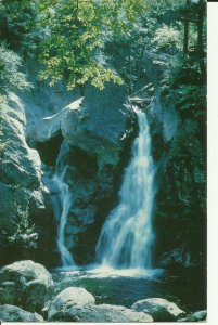 Bash Bish Falls,Mt. Wahington, Mass. Berkshire County  Chrome Postcard