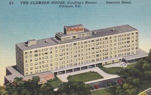 CLEMSON, South Carolina, 1930-1940's; The Clemson House Hotel