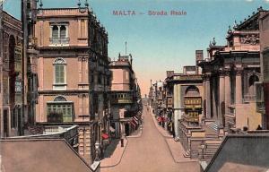Malta Strada Reale Street View Houses Shops