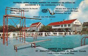 Swimming Pool, Auberge du Faubourg, Man Jumping in the Pool, ST. JEAN-PORT-JO...